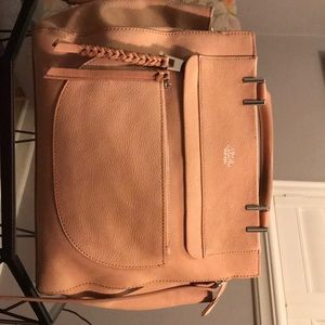 Vince Camuto pale pink suede purse